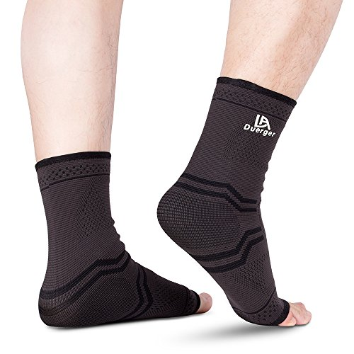 DUERGER Compression Foot Sleeves, Plantar Fasciitis Socks & Elastic Compression Bandage Wrap Set for Men and Women, Anti-Fatigue Medical Sock Sleeve/Heel Arch Support Socks for Cramps Relief by Duerger (Image #7)