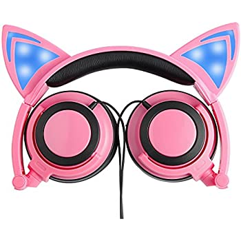 Amazon.com: Cat Ear Headphones, PEYOU Flashing Light Up