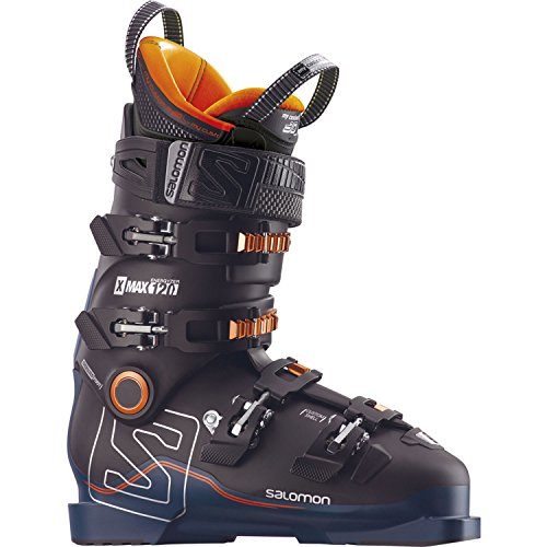 - Salomon X Max 120 Ski Boot - Men's Black/Petrol Blue/Orange, 24.5