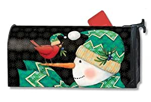 Magnet Works Mailwraps Mailbox Cover - Chevron Snowman