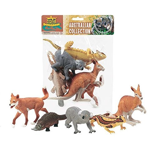 Wild Republic Australia Animal Figures poly bag collection 5