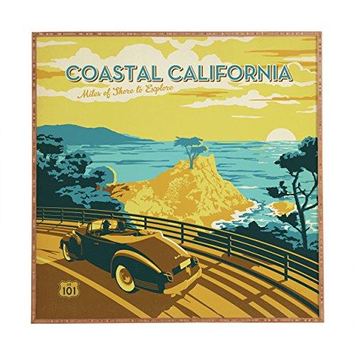 DENY Designs Anderson Design Group Coastal California Framed Wall Art, 30 x 30 by Deny Designs