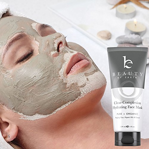 Facial Mask Hydrating Face Clay Treatment; with Natural and Organic Ingredients for Acne, Deep Pore Cleansing Blackhead Removal, Purifying and Firming; Men, Women, Teen, Dry, Oily or Sensitive Skin