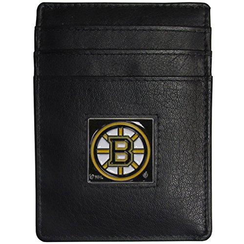 Siskiyou Boston Bruins Leather Money Clip/Cardholder Packaged in Gift Box Boston Bruins Money Clip