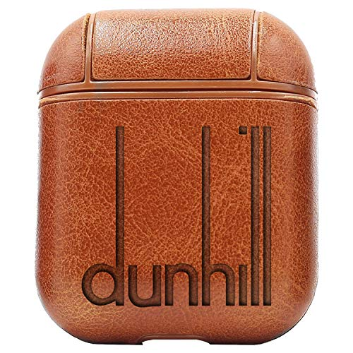 Logo Dunhill (Vintage Brown) Air Pods Protective Leather Case Cover - a New Class of Luxury to Your AirPods - Premium PU Leather and Handmade exquisitely by Master Craftsmen