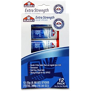 ELMERS Extra Strength Office Glue Stick, 0.88 Oz Each, 12-Pack (E532)