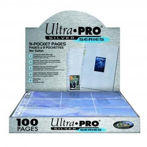 (Ultra Pro 9-Pocket Silver Series Pages for Standard Size Cards)
