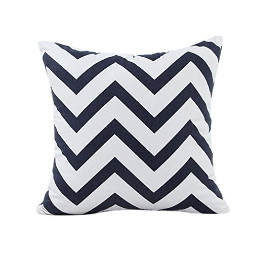 Recycled Premium Envelopes (Pillow Cover, WuyiMC Preium Quality Durable Home Car Bed Sofa Decorative Wavy Patterns Pillow Case Cushion Cover (Black))