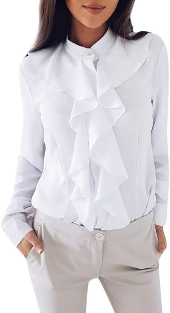 Mujer Blusa Verano Sexy Camisetas Elegantes Mujer Camisa de Encaje de Gasa de Manga Corta para Mujer Blusa Crop Tops de Tallas Grandes: Amazon.es: Ropa y accesorios