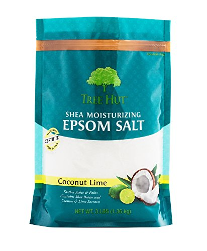 Tree Hut Shea Moisturizing Epsom Salt, Coconut Lime, 3 lb - Hut Bag The