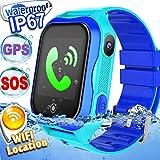 Kid Smart Watch Phone GPS Tracker Accurate WiFi Locator IP68 Waterproof Safety Smartwatch