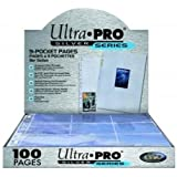 Ultra Pro 9-Pocket Silver Series Pages for Standard Size Cards (25-Pack)