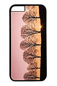 Personalized Protective Cases for iPhone 6 PC Black Edge - Beech Trees At Sunrise