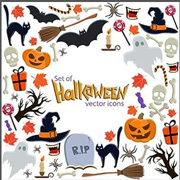 Kesote 8 Feuilles D Autocollants D Halloween Pour Fenetre Et Vitrine