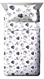Jay Franco Disney Minnie Mouse Purple Love Twin Sheet Set - Super Soft Cozy Kid's Bedding - Fade Resistant Polyester Microfiber Sheets (Official Disney Product)