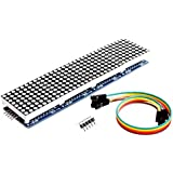 Wangdd22 MAX7219 Dot Matrix Module For Arduino Microcontroller 4 In 1 Display with 5pin Line (Blue)