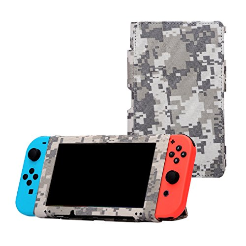 i-UniK Nintendo Switch Case for 2017 Nintendo Switch with Kickstand Cover Protective Case (ACU CAMO)