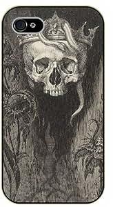 "iPhone 6 (4.7"") Vintage skull and snake - black plastic case / hipster, tribal"