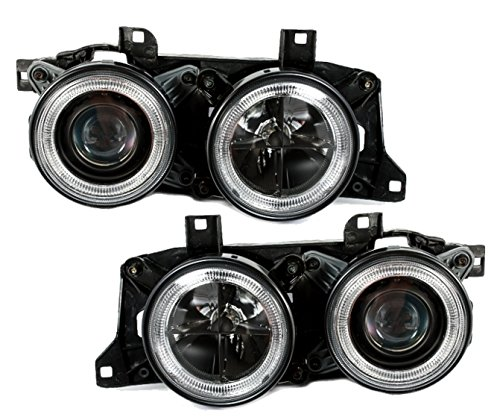 AD Tuning GmbH & Co. KG 960694 Kit de phares Angel Eyes, Noir/Verre Transparent