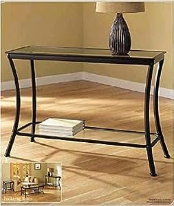 Amazon.com: Mendocino Black Console Table, Stylish Bronze