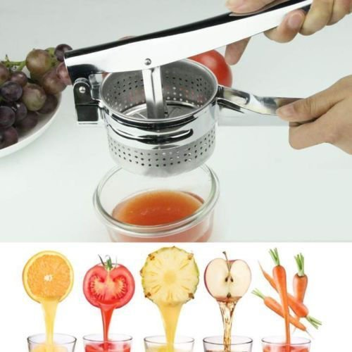 New Stainless Steel Potato Masher Ricer Vegetable Juicer Crusher Press Squeezer Maker 10-inch Kitchen Tool