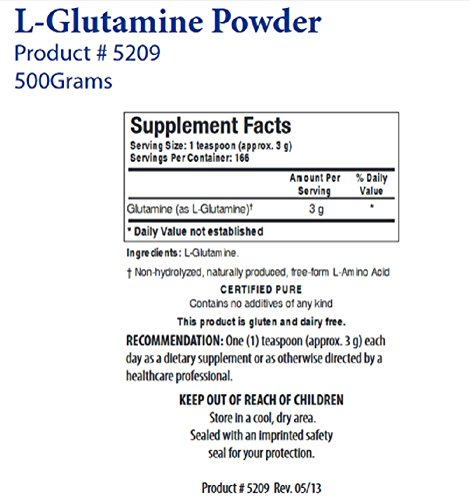 L Glutamine Powder (500 g) Biotics Research