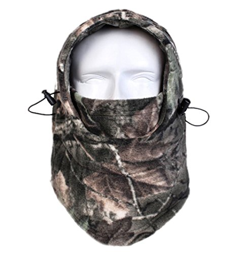- Dxnona Outdoor Warm Windproof Camouflage Fleece Head Hat Face Mask (multicolor 2)