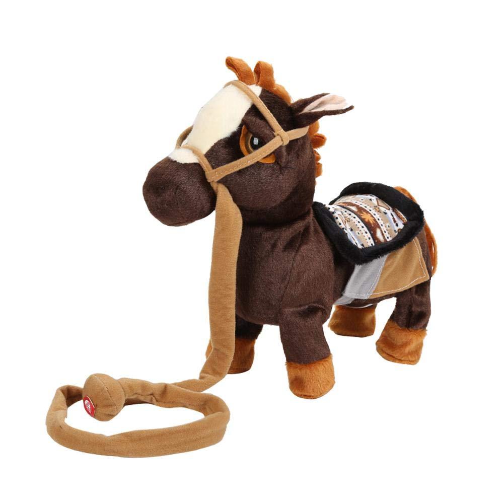 Cute Electronic Unicorn Plush Toys Music Walking Horse Doll Kids Christmas Gift