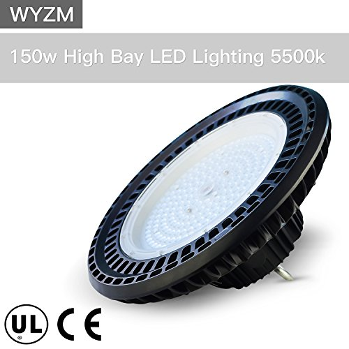 150W UL Proved High Bay LED Lighting,Works From 110V to 277V,600W HPS or MH Bulbs Equivalent,Great Garage Shopping Mall LED Lights(150 Watts) by WYZM