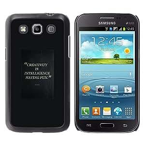 Creatividad inteligente Divirtiéndose Cita - Metal de aluminio y de plástico duro Caja del teléfono - Negro - Samsung Galaxy Win I8550