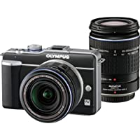 Olympus PEN E-PL1 12.3MP Live MOS Micro Four Thirds Interchangeable Lens Digital Camera with 14-42mm f/3.5-5.6 Zuiko Digital Zoom Lens & Olympus M.Zuiko Digital ED 40-150mm f/4.0-5.6 Lens (Black)