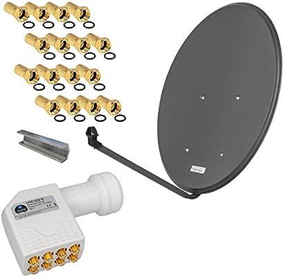 Digital SAT Spiegel 80cm und OCTO Best LNB 8 Teilnehmer Sat Anlage