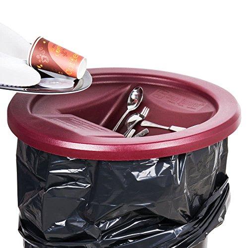 San Jamar KA3244 Katchall Rugged Round Retriever for 32 and 44 Gallon Waste Cans, (San Jamar Flatware Retriever)