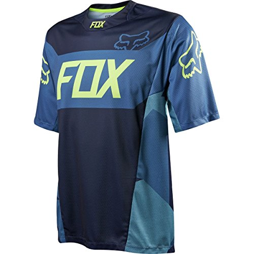 Fox Racing Demo Bike Jersey – Short Sleeve – Men's Device Navy, L