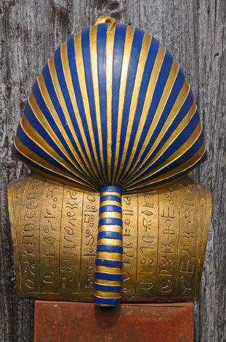 Oro máscara, muertos máscara de Tutankamón, proporciona-ench-amón réplica en su tamaño original: Amazon.es: Hogar