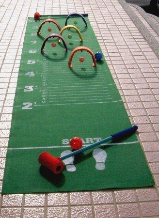 Everrich Industries EVC-0143 Foam Croquet - Long Jump Mat Foam Croquet Set
