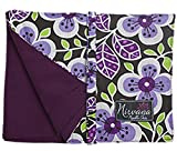 Nirvana 7 Inch 12 Pocket Fabric Knitting Needle and Crochet Hook Case (Purple Floral)