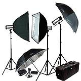 LimoStudio 900W (3X300W) Lighting Photography Studio Strobe Flash Monolight Lighting Kit Photo Studio Lighting Set, AGG403