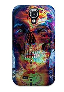 Ideal Johnmarkpl Case Cover For Galaxy S4(psychedelic Skull), Protective Stylish Case