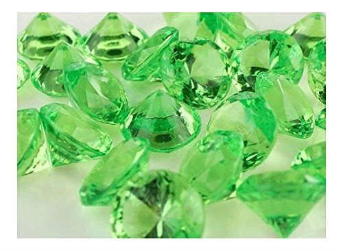 """ALL NEW! 3/4"""" Acrylic Diamond Confetti Crystal Gem Stone Table Scatter 240 PCS (APPLE GREEN) from Unknown"""