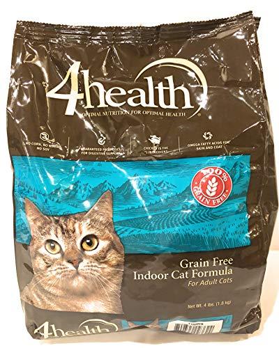 4health Tractor Supply Company, Grain Free, Indoor Adult Cat Food, Dry, 4 lb. Bag
