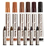Escest Furniture Repair Markers Kit 12 Total Furniture Touch Up Repair System Set, Floor Scratches, Wood Restore Pack, 6 Repair Markers 6 Wax Stick Crayons Fillers