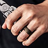 ThunderFit Silicone Rings for Men - 4 Pack Rubber