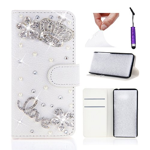 1 opinioni per Nokia Lumia 1520 Custodia, Moonmini® Bianco di Lusso Moda 3D Bling Diamanti PU