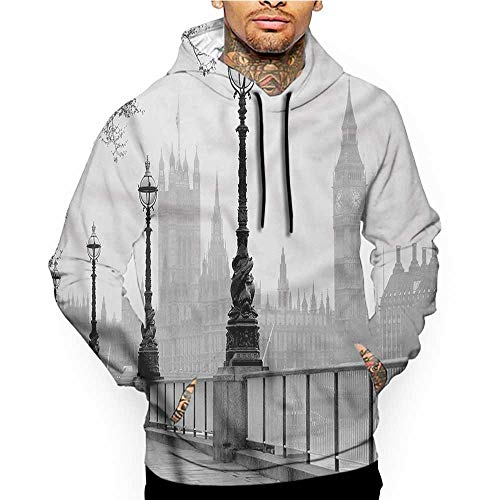Hoodies Sweatshirt Pockets Lighthouse,Dark Clouds with Ocean,Zip up Sweatshirts for Women