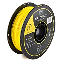 HATCHBOX PLA 3D Printer Filament, Dimensional Accuracy +/- 0.03 mm, 1 kg Spool, 1.75 mm, Yellow from HATCHBOX