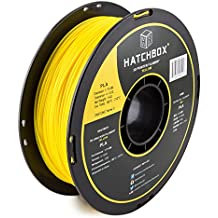 HATCHBOX PLA 3D Printer Filament, Dimensional Accuracy +/- 0.03 mm, 1 kg Spool, 1.75 mm, Yellow