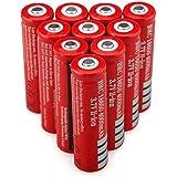 10Pcs/Set 3.7V 1200mah Rechargeable 18650 Li-ion Battery LED Flashlight Batteries High Protective