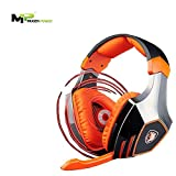 Mugen Power - SADES A60 7.1 Surround Stereo PC Pro USB Gaming Headset Headphone with High Sensitivity Mic Vibration(Electroplating Version)