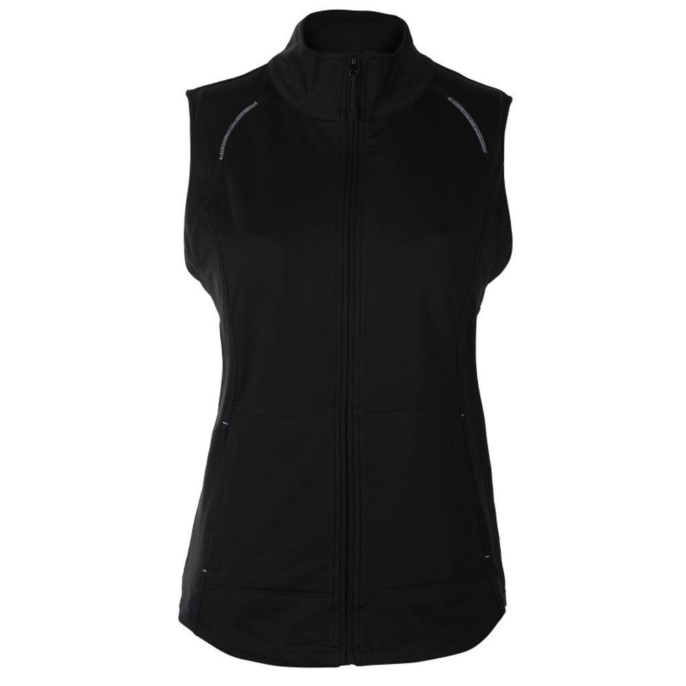 Sport Haley Leah Zip Golf Vest 2018 Women Black X-Small by Sport Haley